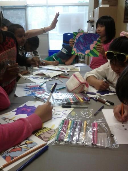 Kids Camp Week 5 Pop art